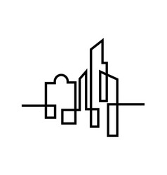 City silhouette flat design vector