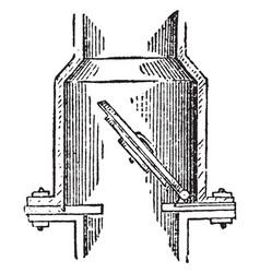 Clack valve vintage vector
