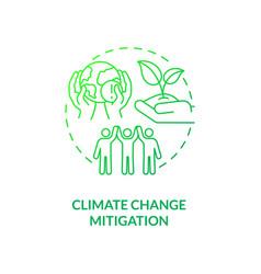 Climate change mitigation concept icon vector