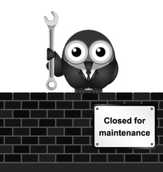 Closed for Maintenance vector