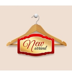 Clothes hanger label new arrival vector