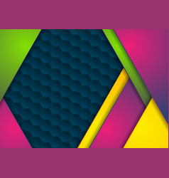 colorful corporate geometric abstract background vector image