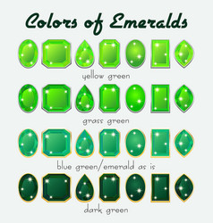 colors of emerald vector image