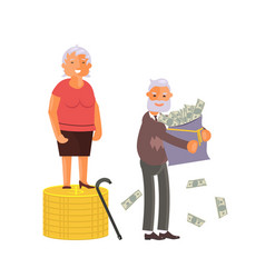 Concept of retirement money plan vector