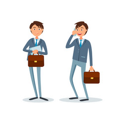 Consultants at suits isolated businessman vector