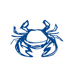 Crab sketch on white background vector