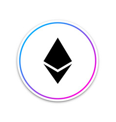 Cryptocurrency coin ethereum eth icon on white vector