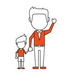 Dad and son design vector