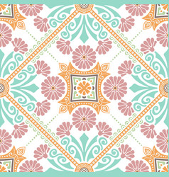 decorative tile pattern design vector image