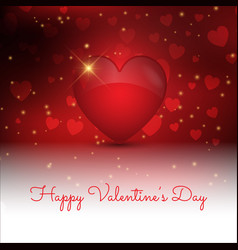 Decorative valentines day background with 3d vector