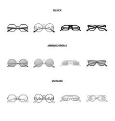 Design of glasses and sunglasses logo vector