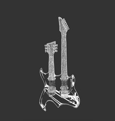 double neck guitar vector image