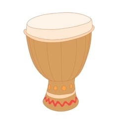 Drum of aborigines icon cartoon style vector image
