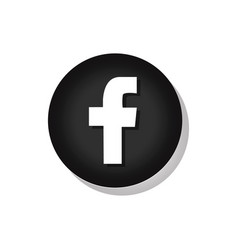 facebook sign vector image