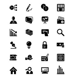 Finance Solid Icons 6 vector