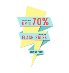 flash sales limited time special offer up to 70 vector image