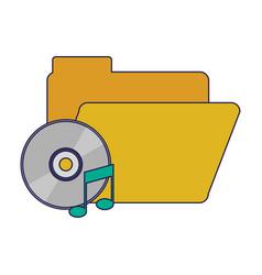 Folder with music cd rom vector