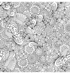Full frame outline of elegant seamless pattern vector image