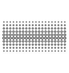 gear shape halftone array vector image