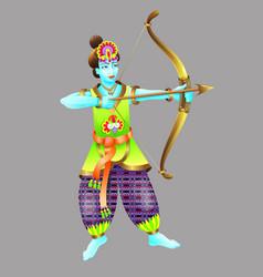 God krishna shoots from a bow vector