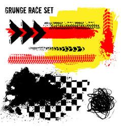 grunge race set vector image