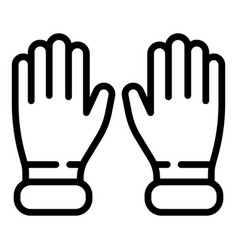 Gynecologist gloves icon outline style vector