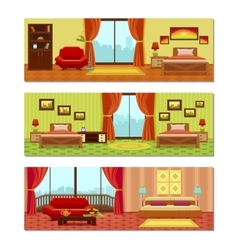 Hotel Rooms Compositions vector image