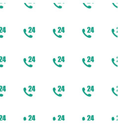 Hours support icon pattern seamless white vector