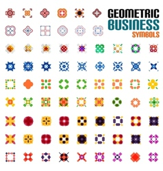 Huge set of business symbols - geometric shapes vector