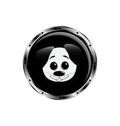 Image dog rocket porthole vector