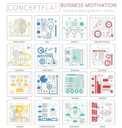 Infographics mini concept business motivation vector image