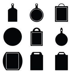 kitchen cutting icon set vector image