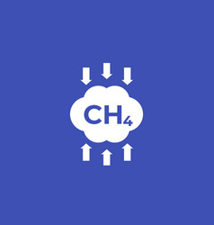 Methane emissions reduction icon vector