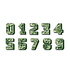 modern numbers 3d great design for any purposes vector image