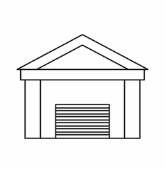 New garage icon outline style vector image