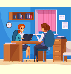 Office job talk composition vector