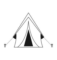 Outline tent equipment camping activities vector