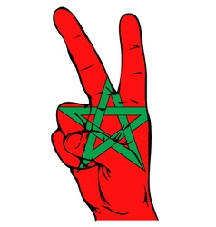 Peace Sign of the Moroccan flag vector image vector image