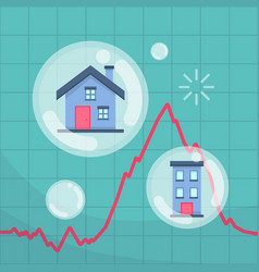 property real estate bubble vector image