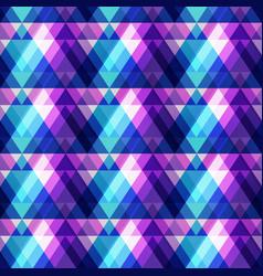 Purple triangle seamless pattern vector