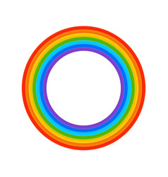 rainbow ring vector image