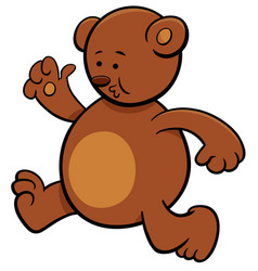 Running bear cartoon character vector