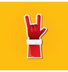 Santa Claus hand rock n roll icon vector image