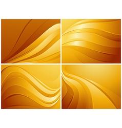 Set of orange backgrounds vector image