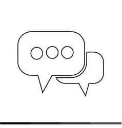 speech bubble icon design vector image