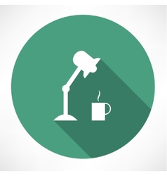 table lamp and coffee icon vector image