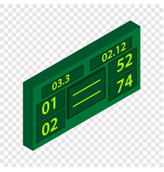 Tennis scoreboard isometric icon vector
