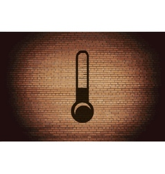 Thermometer Flat modern web button and space for vector image