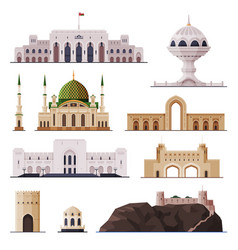 travel to oman muscat city historical building vector image