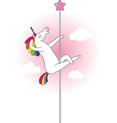unicorn pole dancer vector image